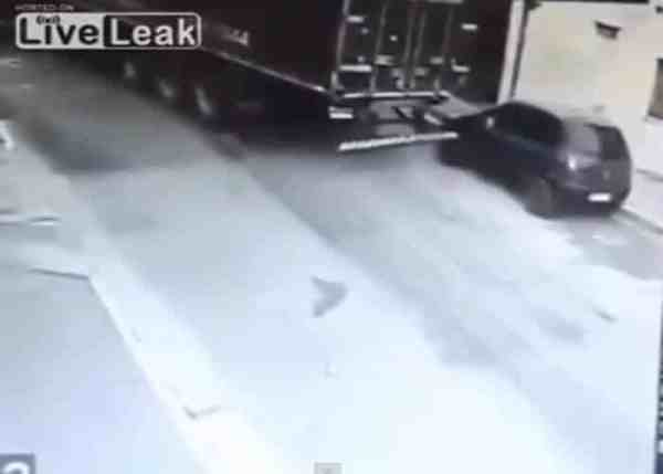 VIDEO: Truck Gives Car a Free Tow