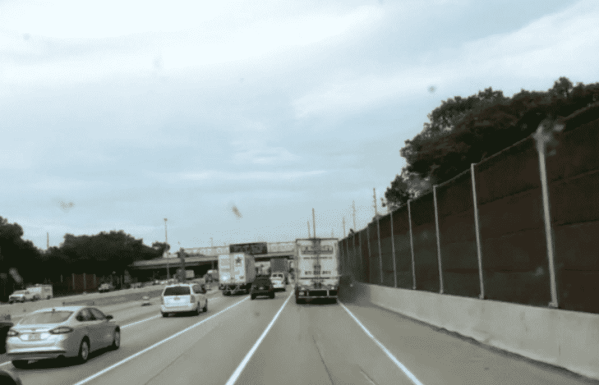 Truck Gets Clipped By Crazy Driver