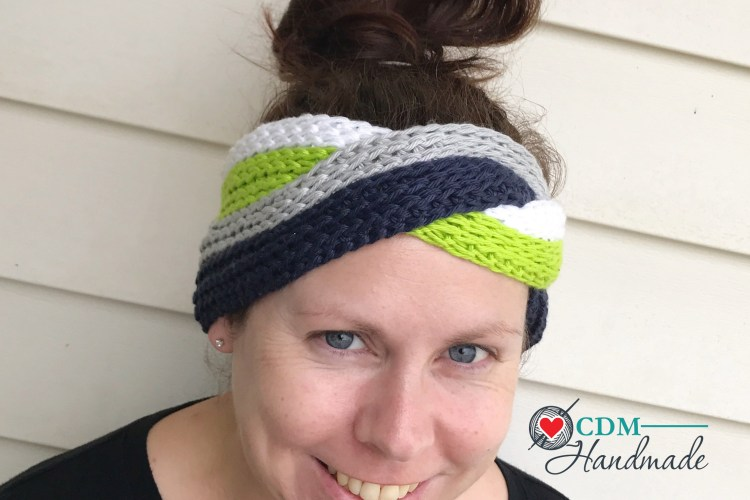 a72b005ef Interlocking Knit Look Headband - a FREE Crochet Pattern and Video ...