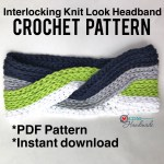 Interlocking Knit Look Headband Pattern