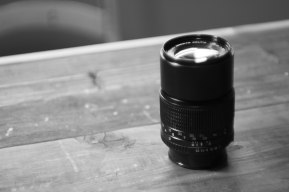 "The 135mm lens. I probably won't use this lens much. It is a ""zoom"" lens but the zoom is not adjustable."