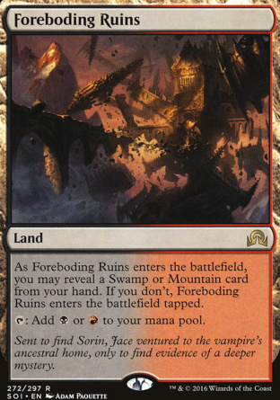 Foreboding Ruins in Shadows over Innistrad