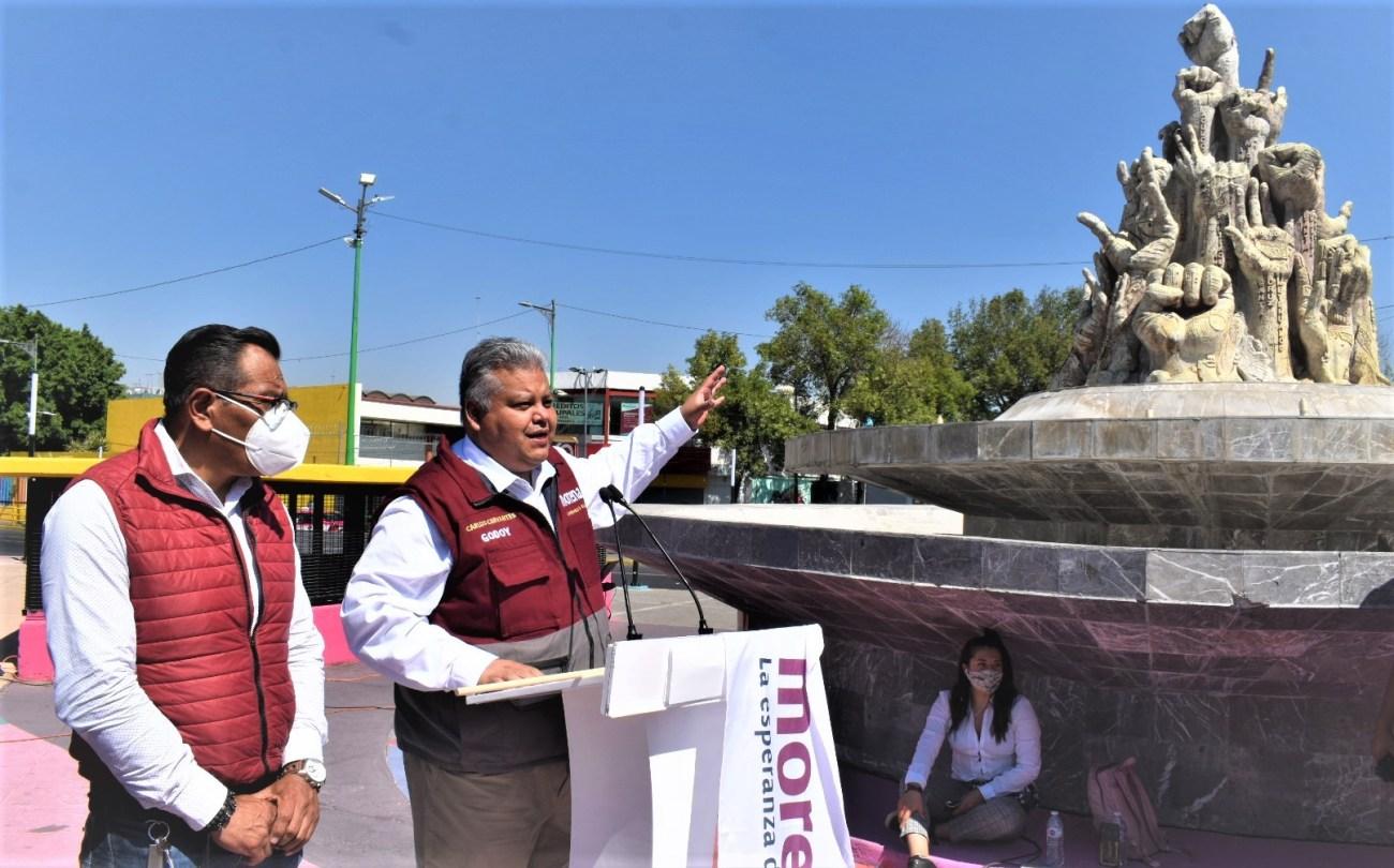 Arranco campana Carlos Cervantes Godoy por la diputacion del distrito XXIV local de la Alcaldia Iztapalapa