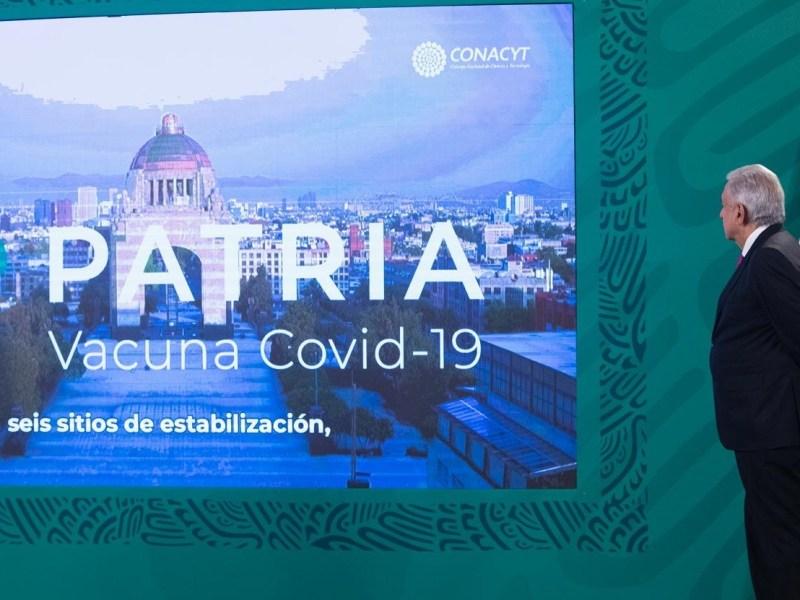 Avanza desarrollo de la vacuna mexicana 'Patria contra Covid 19