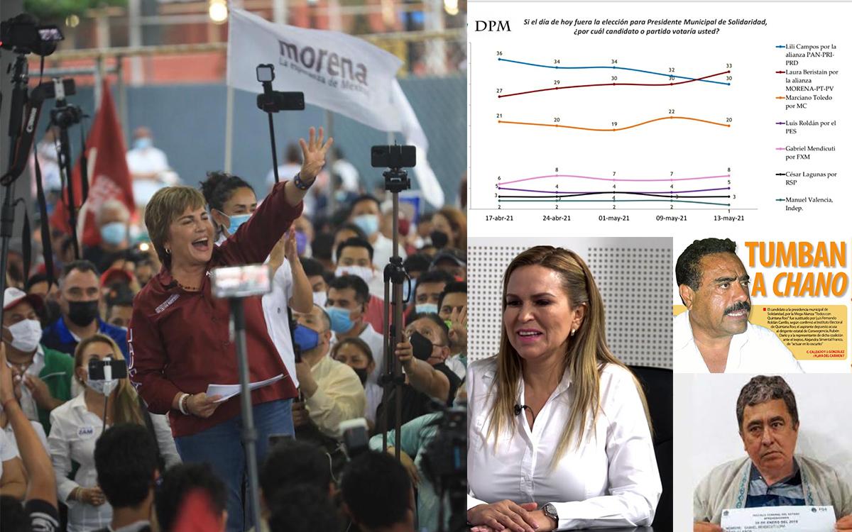 LAURA BERISTAIN GANA ELECCIONES 2021 LILI CAMPOS CHANO Y MENDICUTI SE DESPLOMAN
