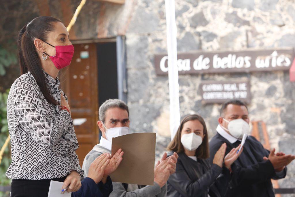 ENTREGA JEFA DE GOBIERNO RESTAURACION DEL TEMPLO DE LA INMACULADA CONCEPCION DANADO POR LOS SISMOS DE 2017