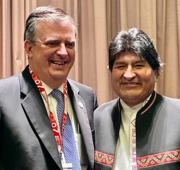 Marcelo Ebrard se reencontro con Evo Morales