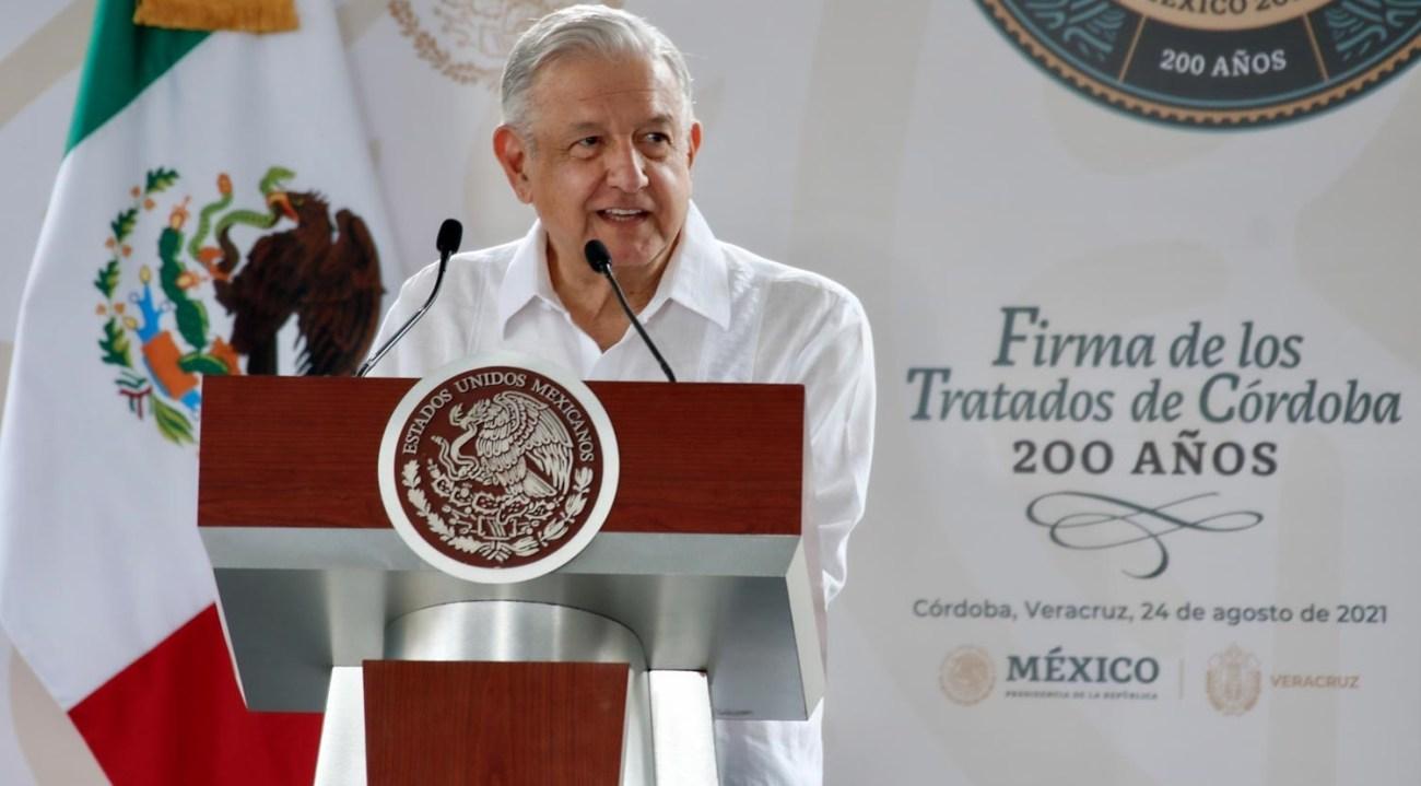 Discurso del presidente de Mexico Andres Manuel Lopez Obrador en la Conmemoracion de los 200 anos de la Firma de los Tratados de Cordoba desde Veracruz