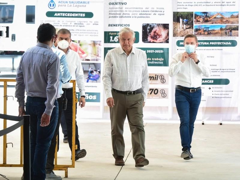 Proyecto Agua Saludable para La Laguna favorecera a Durango y Coahuila sin afectar ambiente ni produccion afirma Lopez Obrador