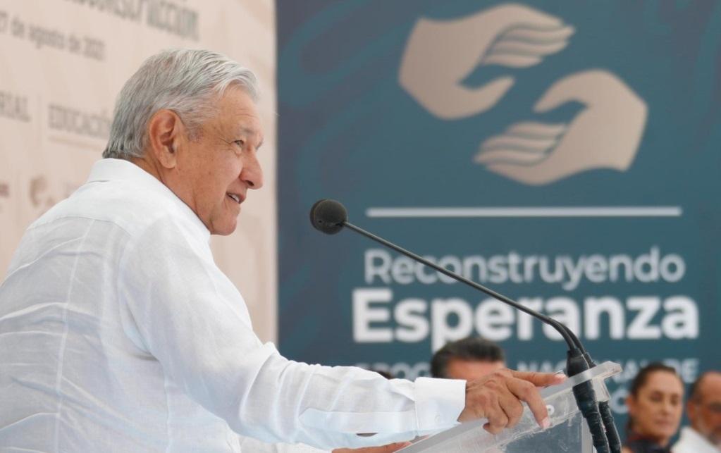 Celebra Lopez Obrador progreso del Programa Nacional de Reconstruccion llama a concluir obras en 2022