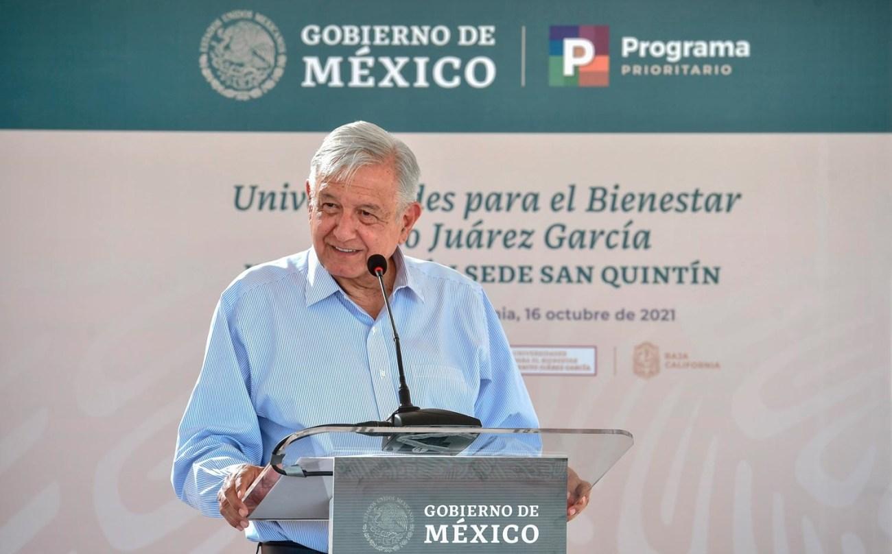 Lopez Obrador inaugura primera etapa de Universidad para el Bienestar Benito Juarez Garcia en San Quintin