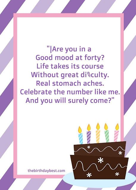 best 40th birthday invitations wording