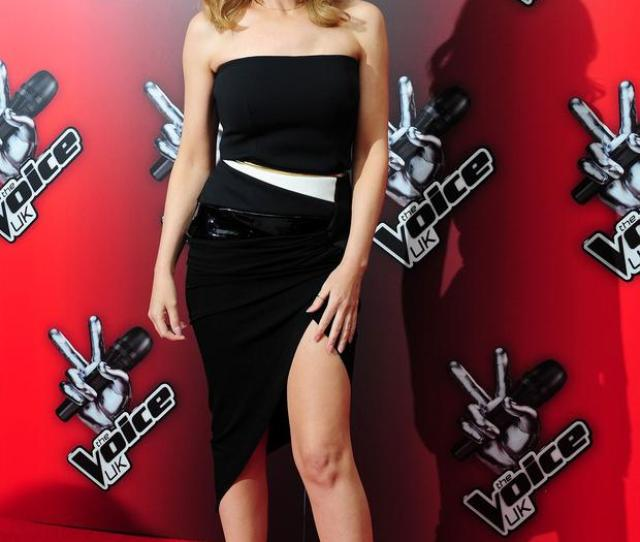 Kylie Minogue Attending The Launch Of Bbcs The Voice London