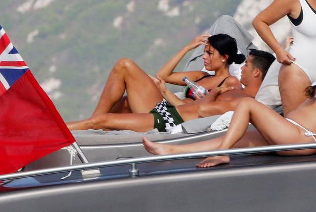 Real Madrid football player Cristiano Ronaldo and Georgina Rodriguez are seen on July 8, 2017 in Ibiza, Spain. (Photo by Europa Press/Europa Press via Getty Images)