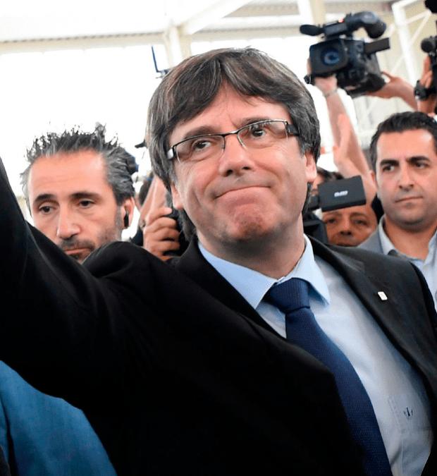 Exile: Catalan president Carles Puigdemont cannot be tried
