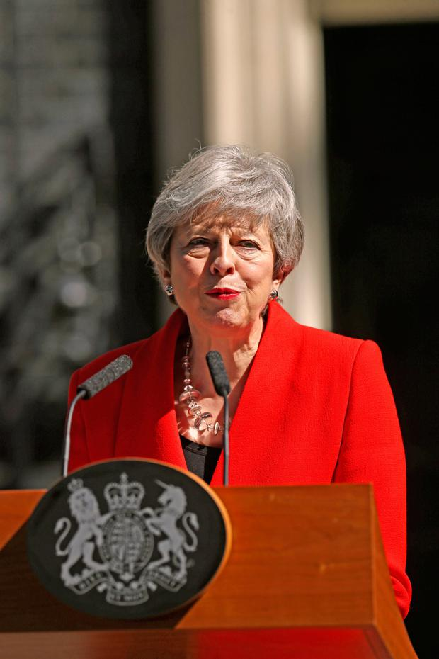 Prime Minister Theresa May makes a statement outside at 10 Downing Street in London, where she announced she is standing down as Tory party leader on Friday June 7 Yui Mok/PA Wire