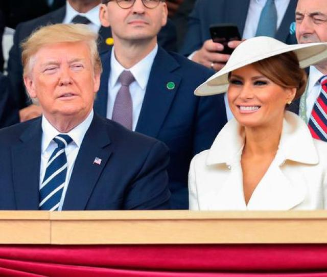 Us President Donald Trump L And Us First Lady Melania Trump Attend An Event