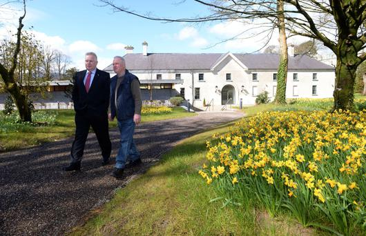 Grounds swell: Pat Dawson, of the National Parks and Wildlife Service, and gardener Gerry Murphy at Killarney House.