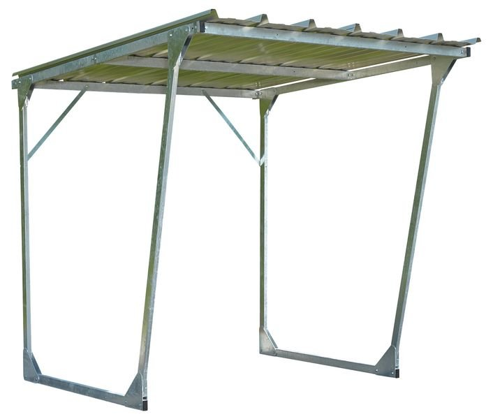 abris velos et motos en acier galvanise a toit incline