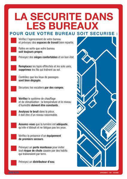 Affiche Sur La Scurit Dans Les Bureaux Seton FR