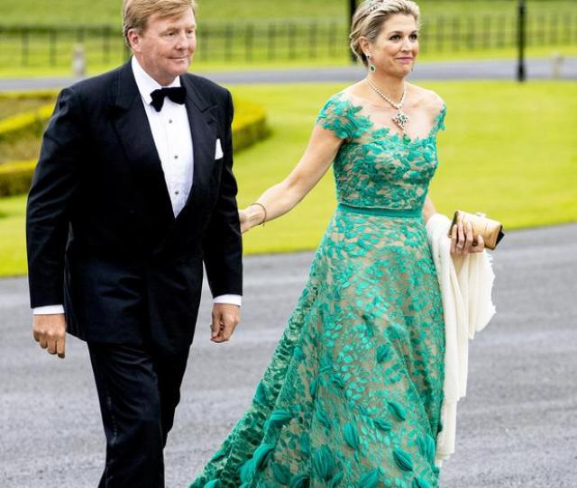 King Willem Alexander Of The Netherlands And Queen Maxima Of The Netherlands During An Official