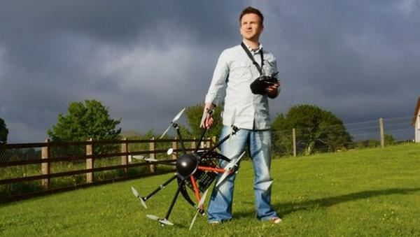 Sky's the limit for grounded aviator and his drone army ...
