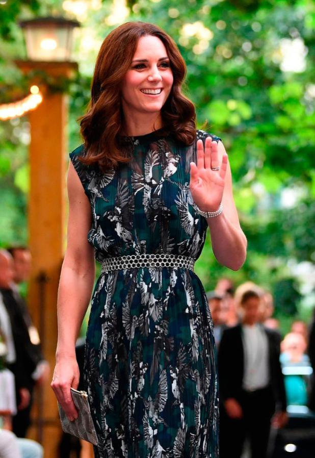 Britain's Princess Kate, the Duchess of Cambridge arrives for a reception at 'Claerchens Ballhaus' dance hall in Berlin, on the second day of the British royal couple visit to Germany, on July 20, 2017 in Berlin. / AFP PHOTO / POOL / Britta PedersenBRITTA PEDERSEN/AFP/Getty Images
