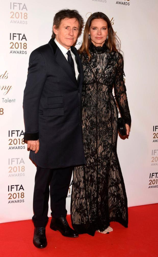 Gabriel Byrne and Hannah Beth King attend The 2018 IFTA Film & Drama Awards Ceremony