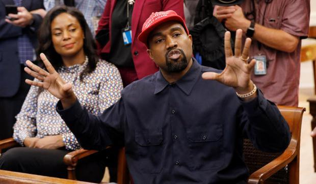 Rapper Kanye West speaks during his visit to the White HouseREUTERS/Kevin Lamarque