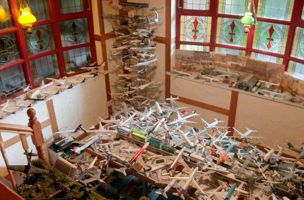 Michael Kelly's model aircraft collection, at his home in Limerick