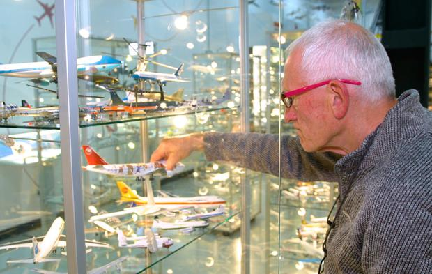 Michael Kelly with his collection at Shannon Airport. Screengrab: Bridge PR