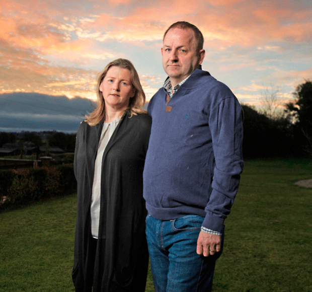 Maurice McCabe and wife Lorraine
