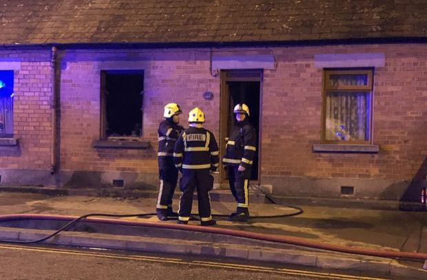 Fire crews attended a suspected petrol bomb attack on a house in Drogheda Picture Ciara Wilkinson