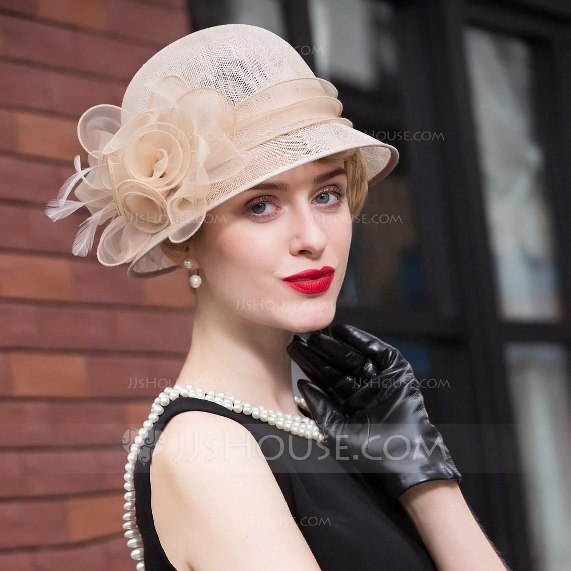 Ladies Unique Cambric BowlerCloche Hat 196117416