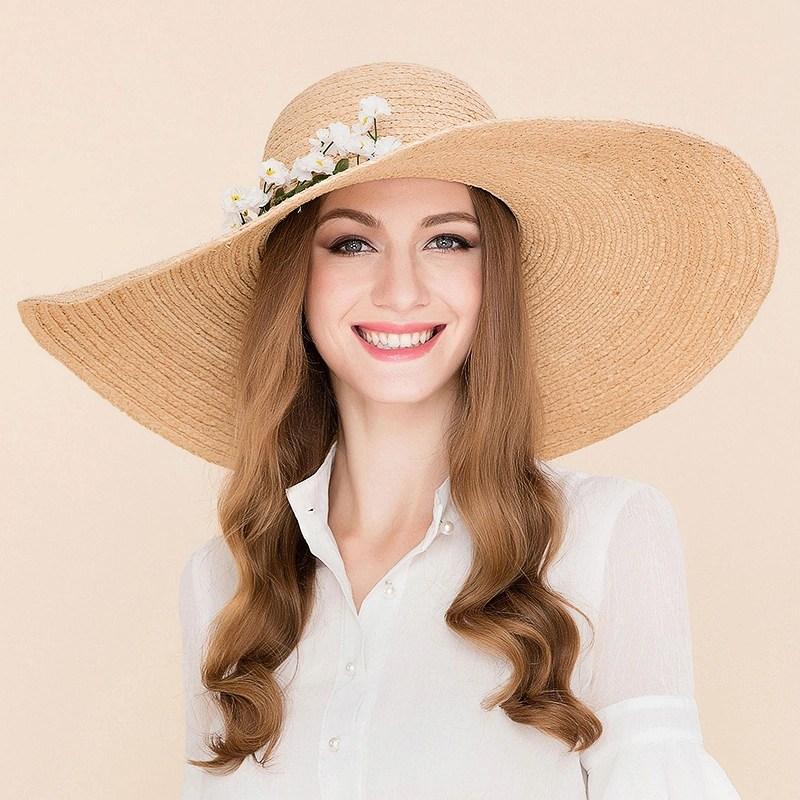 Ladies' Fashion Rattan Straw With Silk Flower Floppy Hat/Beach/Sun Hats/Kentucky  Derby Hats (196124768) - JJ's House