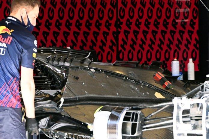 Detalhe da Red Bull Racing RB16B