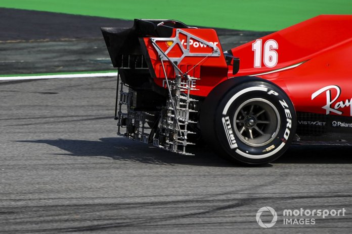 Charles Leclerc, Ferrari SF1000 con un panel de sondas kiel