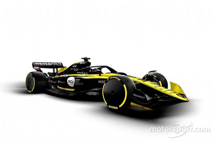Boceto de Renault F1 Team 2021