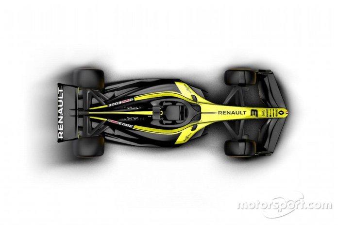 Coche de Renault F1 Team 2021