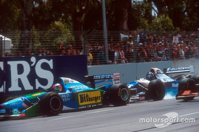 Australian GP 1994, COLLISION AND FIRST TITLE