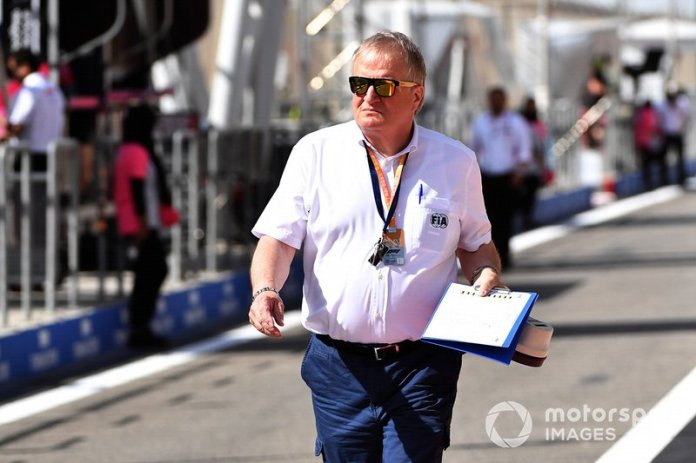 The FIA's F1 Technical Delegate Jo Bauer, pictured in 2019, made the call to disqualify Vettel