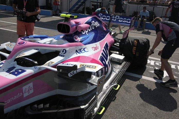 Detalle de los sidepods RP19 de Racing Point