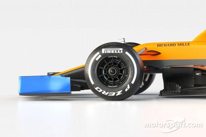 McLaren MCL35 detalle del frente
