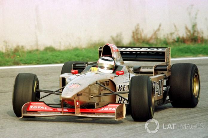 1996: última vez en Fórmula 1 prueba con Jordan