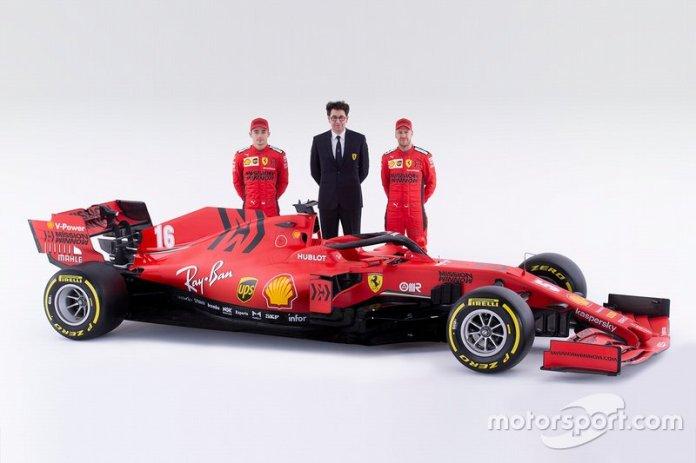 Sebastian Vettel, Ferrari, Charles Leclerc, Ferrari, Mattia Binotto, Director de Ferrari, Ferrari SF1000