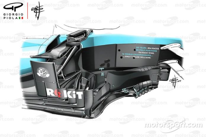 Bargeboard del Williams FW42