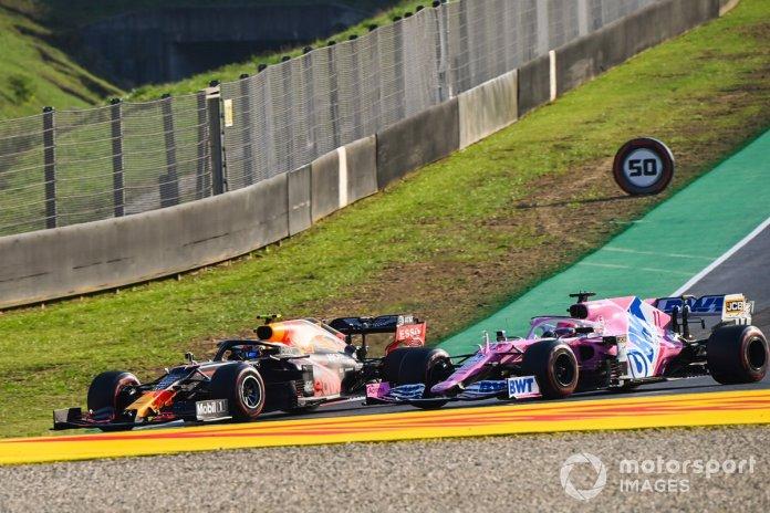 Alex Albon, Red Bull Racing RB16, Sergio Pérez, Racing Point RP20
