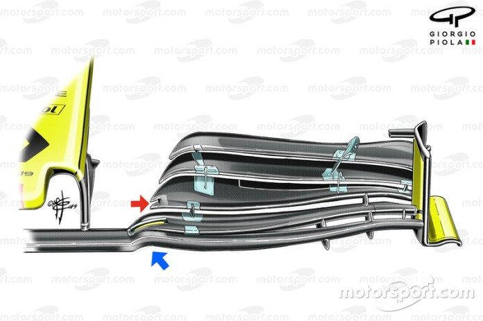 El nuevo alerón delantero del Renault R.S.19