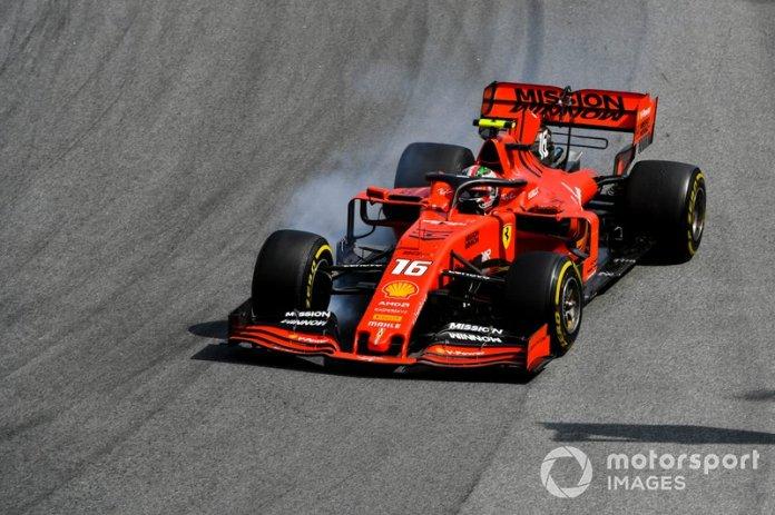 18º Charles Leclerc, Ferrari SF90 Colisión