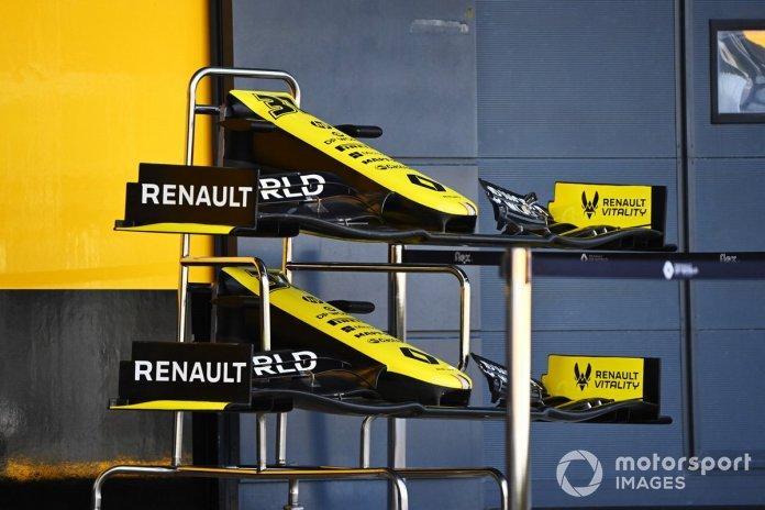 Renault F1 alerones delanteros